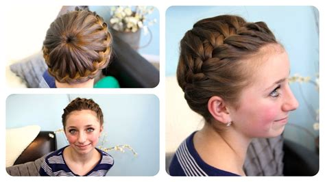 Cute Hairstyles In Youtube | starburst crown braid updo hairstyles cute girls
