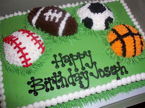 sports themed cake decorations sports cake birthday ideas