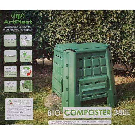 compostiera da giardino compostiera cubica verde per il compostaggio domestico