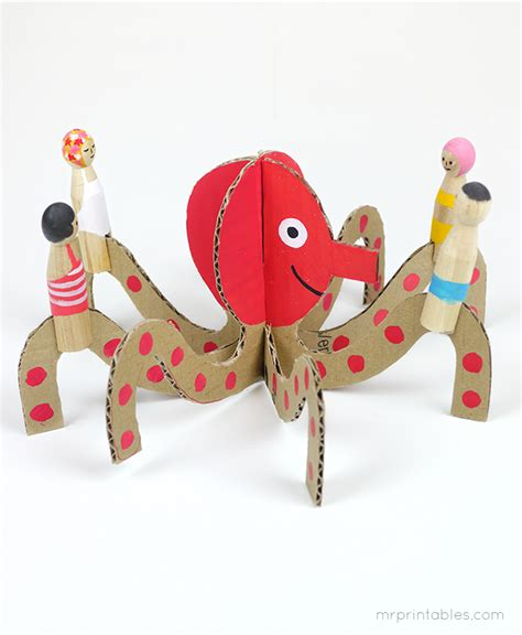 How To Make Sea Animals Out Of Paper - peg dolls cardboard sea creatures mr printables
