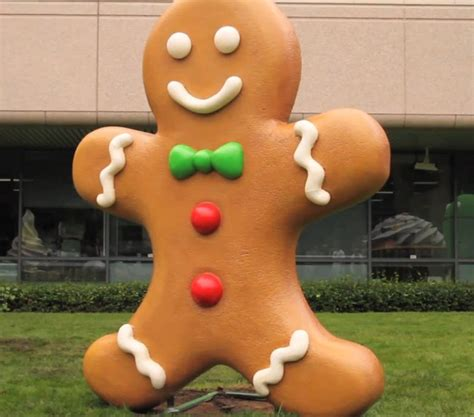 google images gingerbread man gingerbread to be android 2 3 statue arrives at google cus