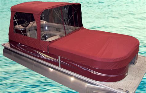 pontoon tops with sides turn your pontoon into a cing tent rocky mountain rv