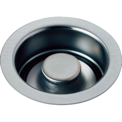 kitchen drain flange delta 4 1 2 in kitchen disposal and flange stopper