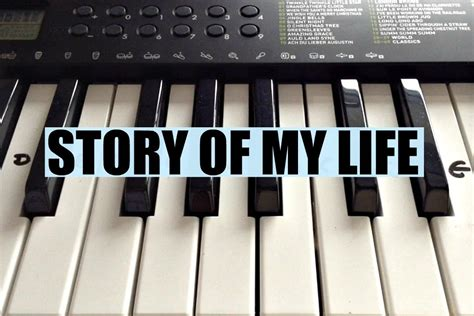 my note my blog my story story of my life one direction easy keyboard tutorial