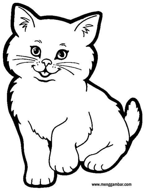 menggambar kucing lucu mewarnai kucing lucu