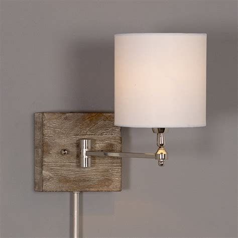 brushed nickel swing arm wall l swing arm wall ls shades with brushed nickel switch