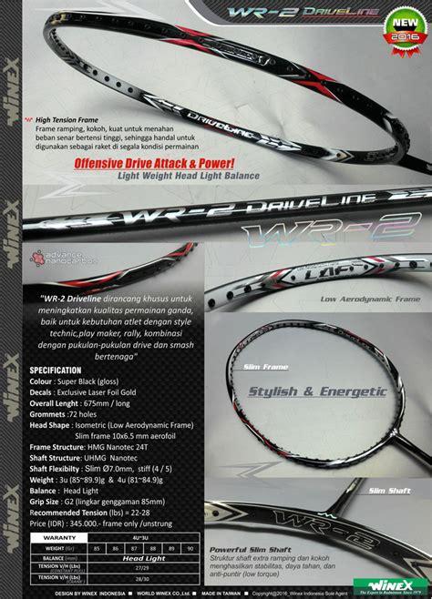 Raket Winex Wf 15 jual jual dealer resmi raket badminton winex kualitas dunia harga bersaing kaskus