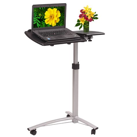 mobile laptop desk laptop cart desk portable wheels adjustable mobile