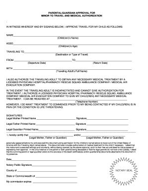 form parental consent fill printable fillable