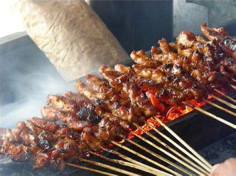 colorful indonesia  soft  tender grilled  satay
