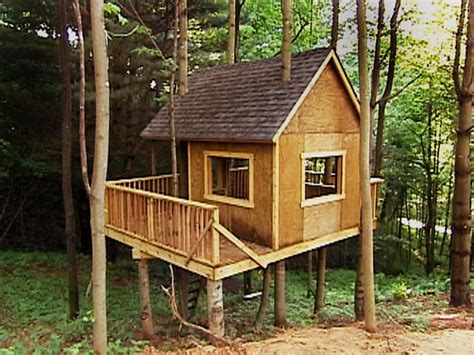 How To Build A Tree House by Building A Easy Treehouse Design Ideas For House