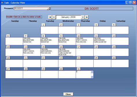 free microsoft access calendar template calendar