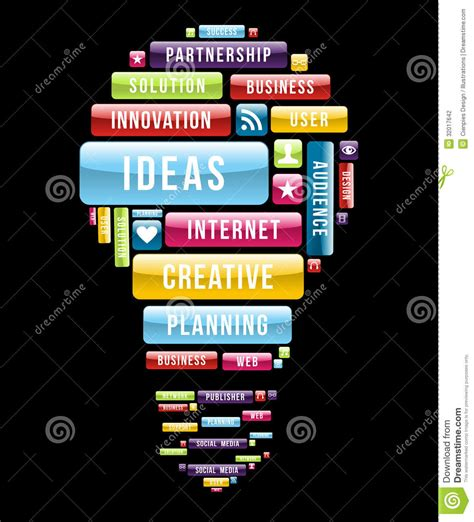 lite web innovation ideas light bulb stock photography image