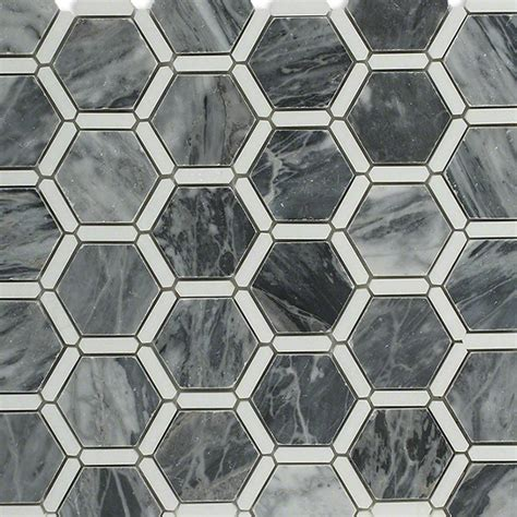 pattern tile sle shop 12 x 12 florentine dark bardiglio with thassos line