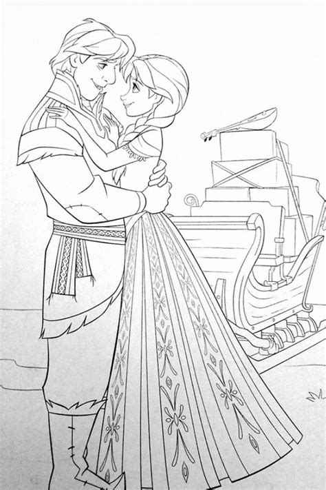 X2 Coloring Page by And Kristoff Coloring Page Disney