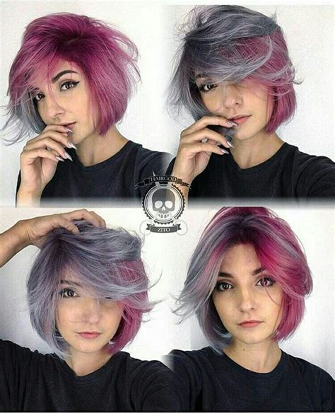 Best 25  Short purple hair ideas on Pinterest   Short