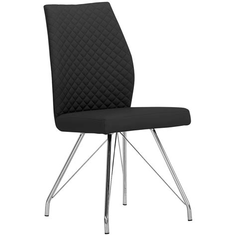 Black Upholstered Chair by City Furniture Lima Black Upholstered Side Chair