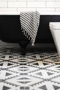 Black Bathroom Floor Tiles Black White Southwest Modern Tile Floor Bathroom Simplified Bee