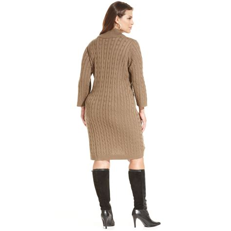 plus size knit sweater calvin klein plus size cable knit sweater dress in