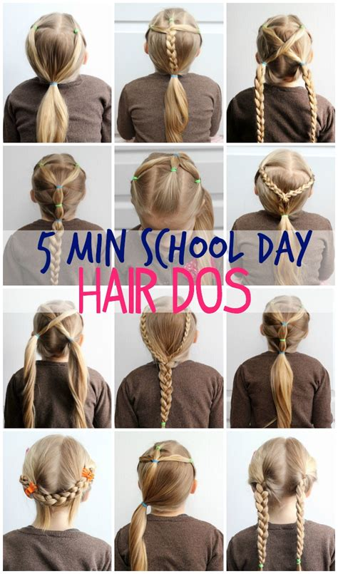 5 Minute Hairstyles For School 5 minute school day hair styles fynes designs fynes
