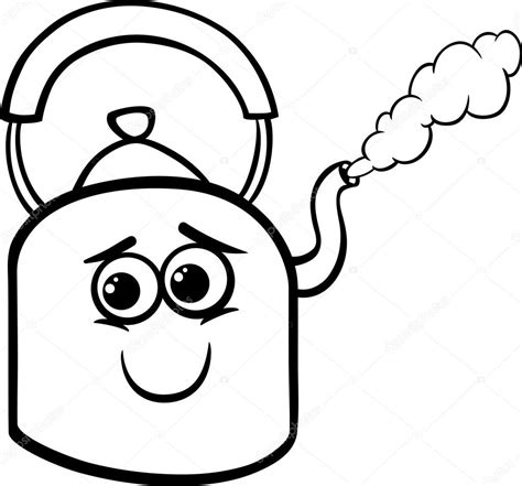 coloring page vector kettle and steam coloring page stock vector 169 izakowski
