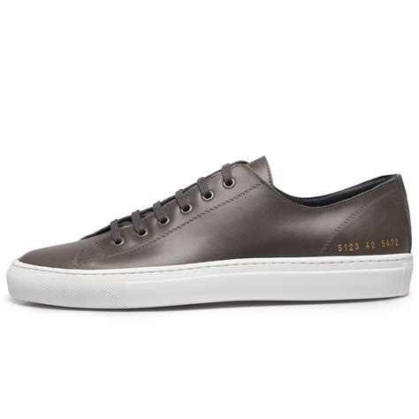 Low Leather by Common Projects Tournament Leather Low Top Sneakers In