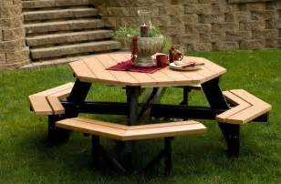 Poly Picnic Tables Woodshed Dallas Hexagon Picnic Tables For Sale Yard