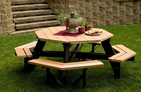 Polywood Picnic Table by Amish Outdoor Furniture Crafts