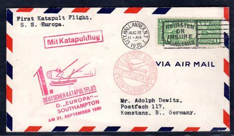 Brief Schweiz Nach Usa usa katapulflug brief nach konstanz 183 philatelie heinemann