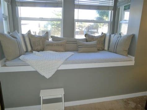 custom made window seats custom made window seat cushion and pillow project by