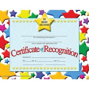 student recognition certificate pack hayes