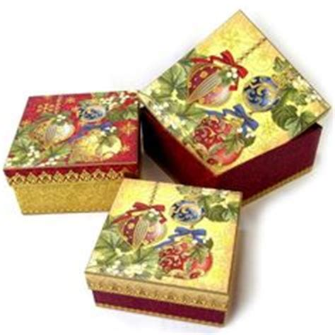 decorative ornament boxes 1000 images about punch studio christmas boxes on