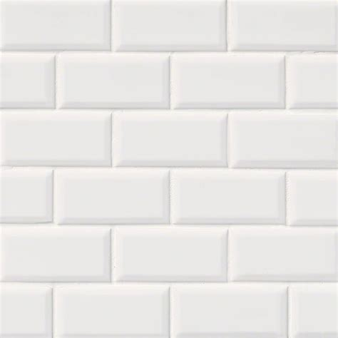 2x4 Beveled Subway Tile Backsplash by Subway Tile Domino White Glossy Subway Tile Beveled 2x4
