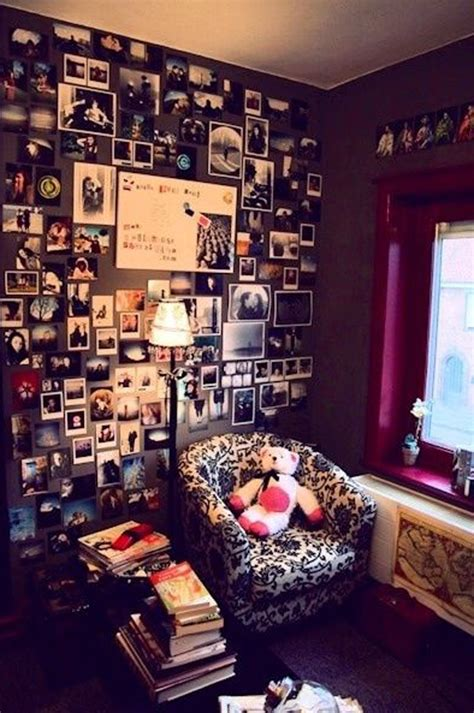 Decorating Girls Bedroom teen romantic photo wall ideas