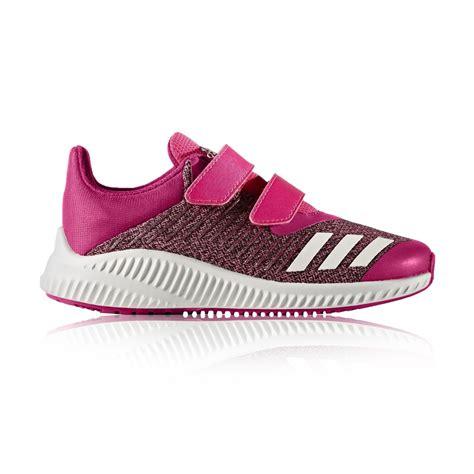 adidas fortarun velcro running shoes shock pink footwear white bold pink sportitude