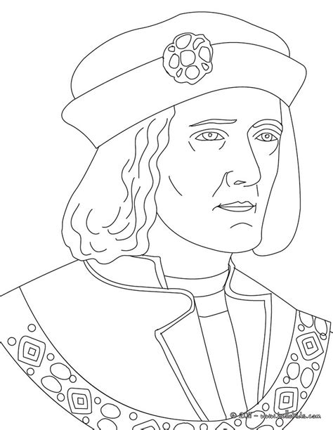 coloring page king george iii king richard iii coloring pages hellokids com
