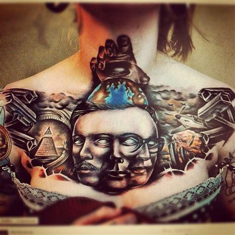 illuminati tattoo on neck illuminati chest tattoo tattoos pinterest around the