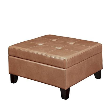 camel leather ottoman dorel asia hadfield square faux leather storage ottoman
