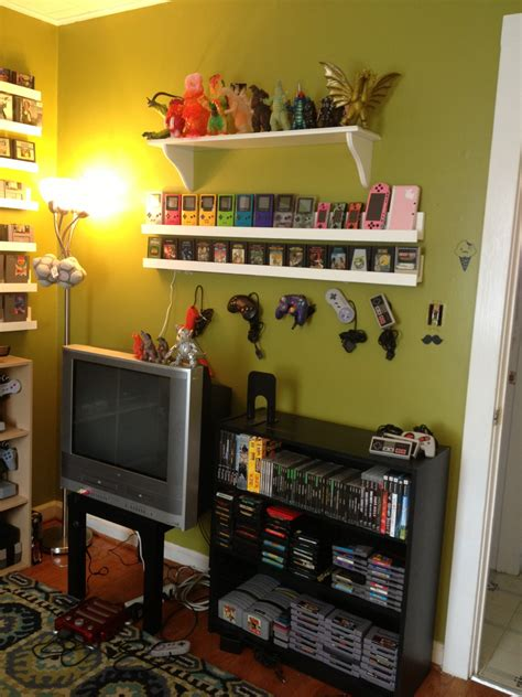 my game room and collection 2014 retro video gaming gamer builds room to display her retro video game collection