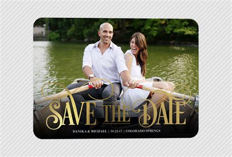 boat ride date funny save the dates that will make everyone smile