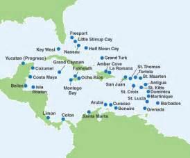 Caribbean Cruise Map by Carnival Cruise Map Of Caribbean Pics Punchaos Com