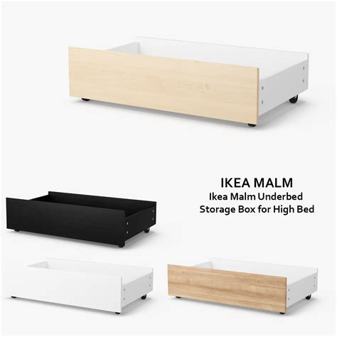 ikea malm underbed storage 3d model