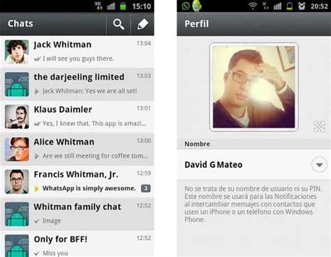 imagenes para perfil whatsapp de navidad whatsapp 2 7 8 ahora con foto de perfil para android