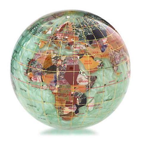peridot green gemstone globe paperweight