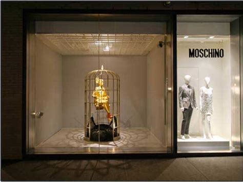 Sw Moschino flashbackfriday moschino s gilded cage store windows