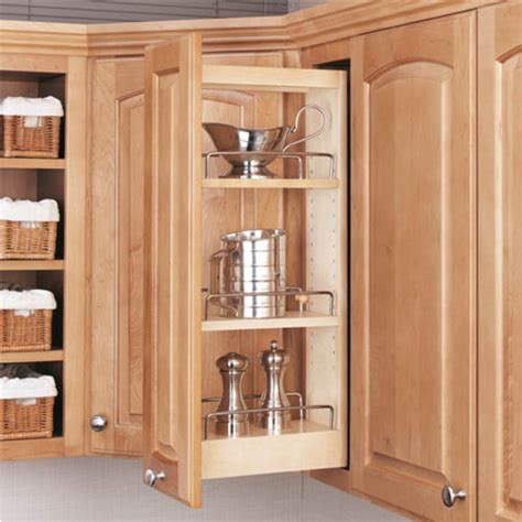 pull out spice rack for upper cabinets rev a shelf kitchen upper cabinet pull out organizer