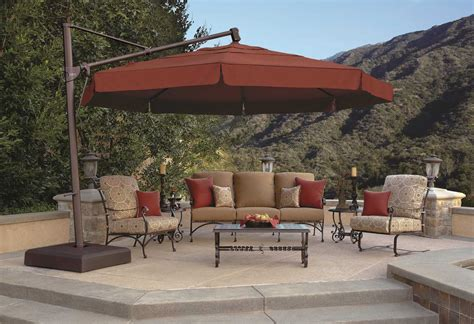 Treasure Garden Patio Umbrellas Treasure Garden Cantilever 13 Foot Wide Crank Lift Tilt Lock Umbrella Akz13