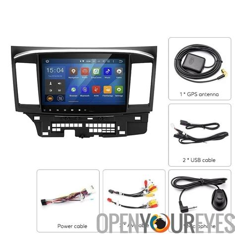 mediaplayer android mitsubishi lancer 2 din car mediaplayer android 5 1 1 cpu 10 2 zoll display gps
