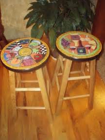 Stool Painting by Awesome Painted Bar Stools 6 Painted Wooden Bar