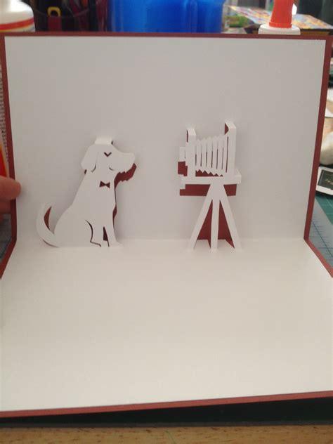 Dog Photo Shot Pop Up Card Template From Handmade